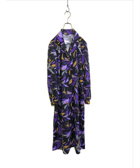Purple petal design rétro dress-1429-10