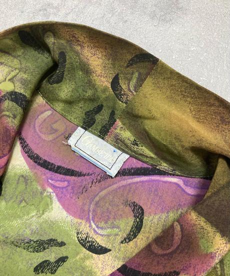 GAMBETTA deep color ribbon long shirt-2203-10