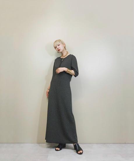 iCB fine pattern black long dress-1892-5