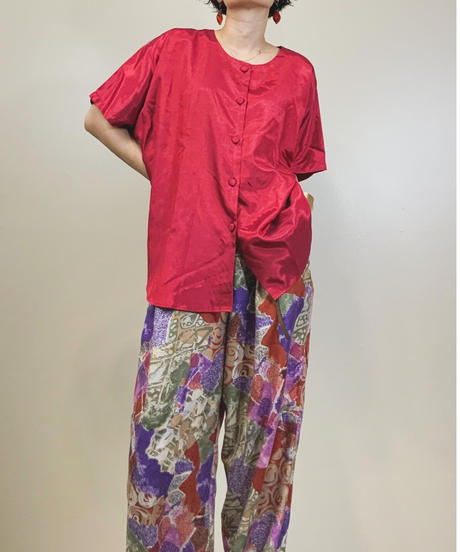 V.P THAI SILK  red shirt