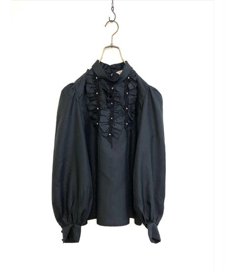 EVERY PICTURE black frill shirt-1448-10