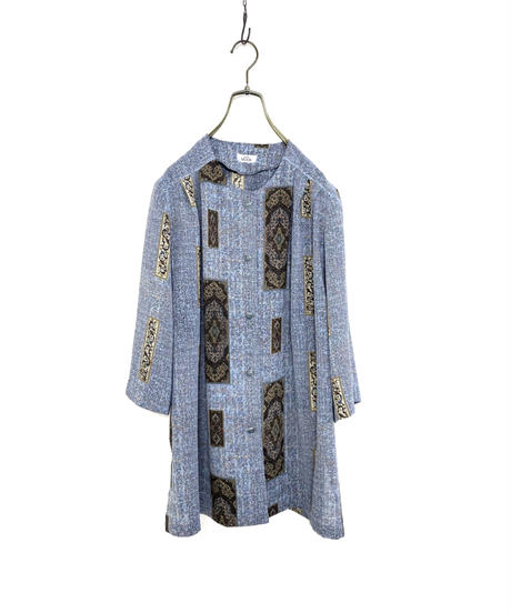 LADIES MODE dull blue exotic tops-2055-7