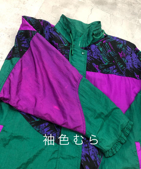 lizmoody green color nylon jacket-1760-3