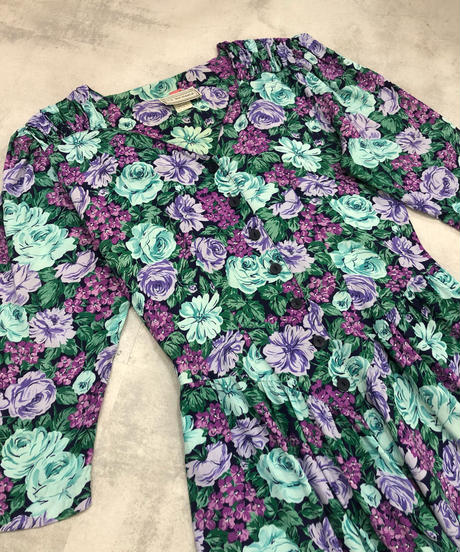 E.D.MICHAELS made in u.s.a. floral dress-1809-4