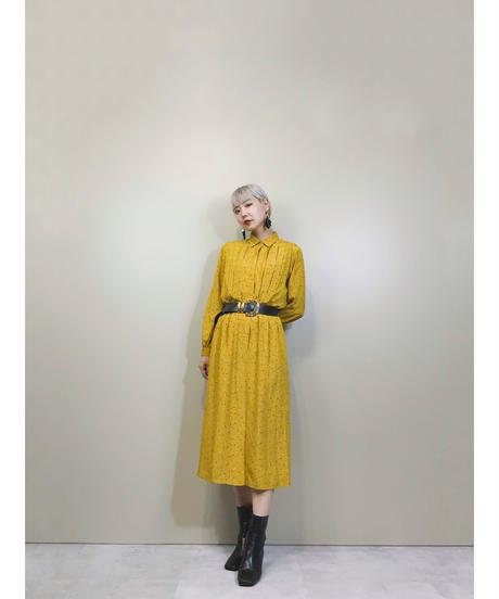 LARUSE TOKYO STYLE mustard color dress-1816-4