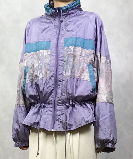 Watercolor import purple  nylon  jacket-999-3