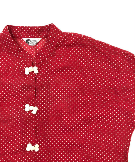 Dot rétro china shirt-333