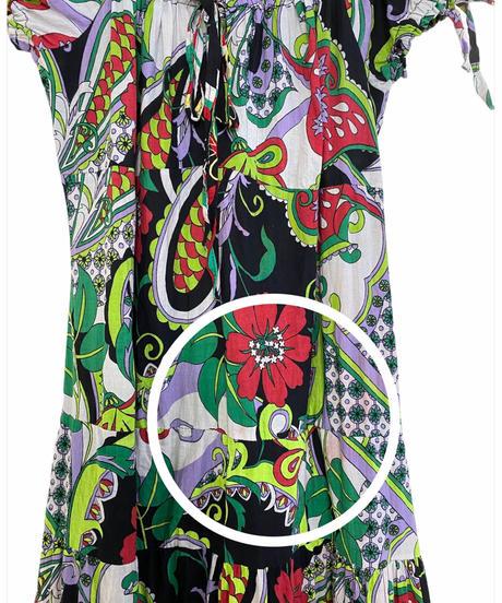 Kenza FASHION botanical flower import maxi dress-2095-8