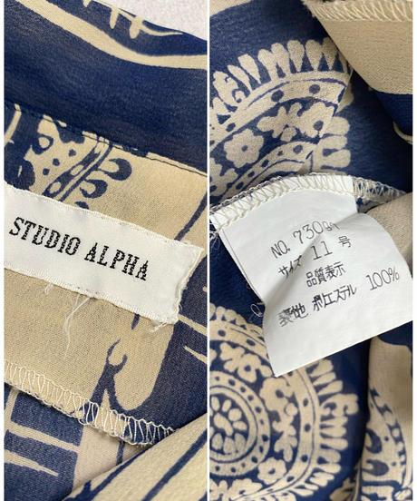 STUDIO ALPHA exotic sheer shirt-2045-7
