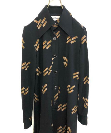 PRETA PORTER black rétro mini dress-1689-2