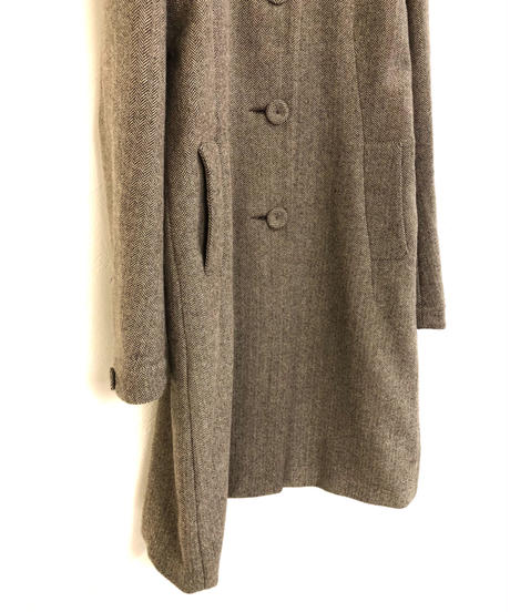 CLAUDIE PIERLOT herringbone pattern coat-1606-1