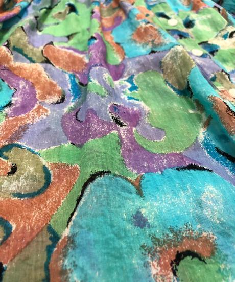 aurora cotton floral gather design tops-1962-6