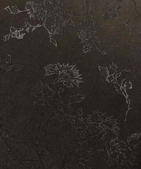 Black floral ruffled collar shirt-1789-3