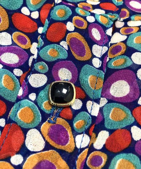 Circle pattern rétro shirt-415-7