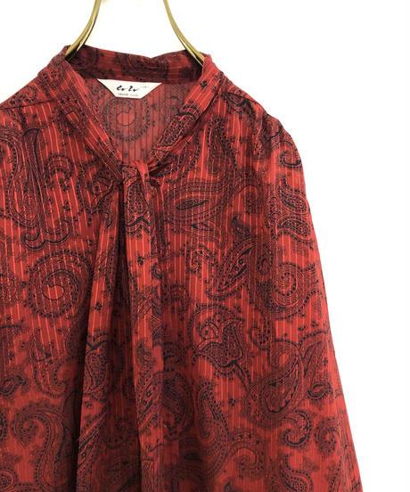 Lu Lu SAGAMI CO.LTD. red sheer shirt-1798-4