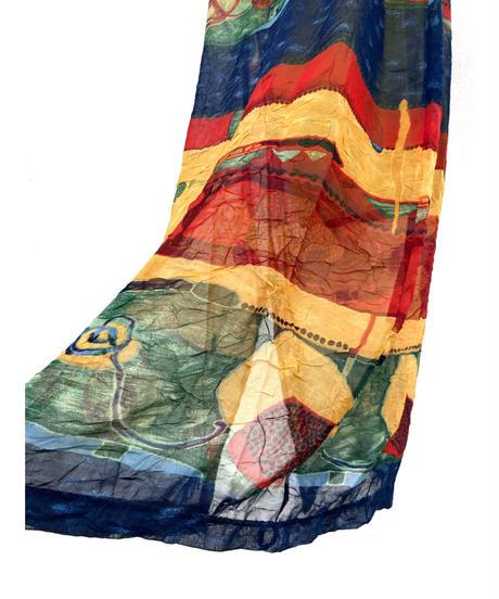 Artistic design import camisole maxi dress-1906-5