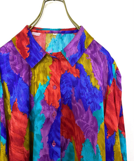 DTR bright color import gather shirt-2143-9