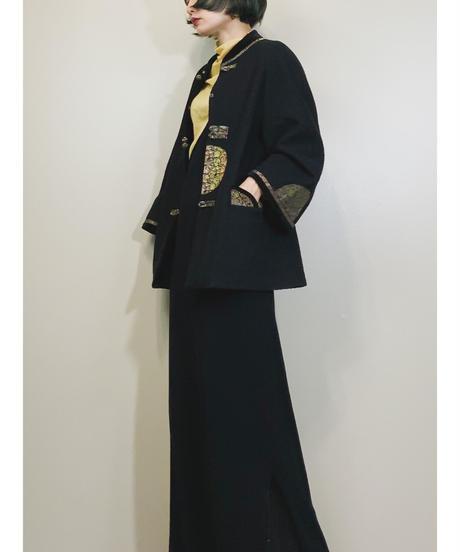 China design black wool jacket-1601-1
