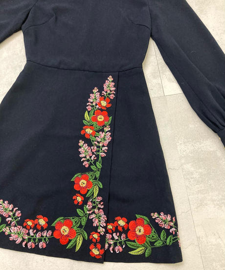 TED BAKER LONDON embroidery mini dress-1571-12