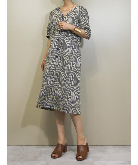 Tree ring rétro indigo dress-1188-6