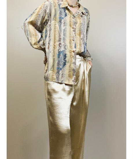 VINVERT paisley pattern elegant shirt-1788-3