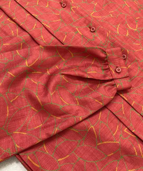 JOLIET leaf pattern 2way collar shirt-1751-3