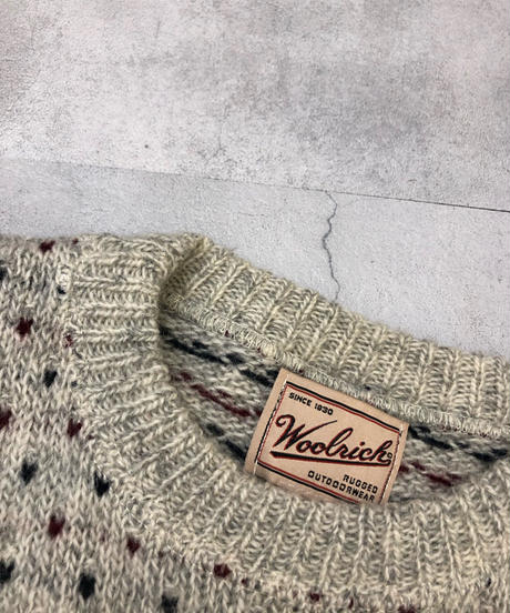Woolrich since 1830 MADE IN USA over size knit-1529-11
