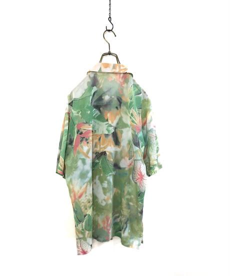 MALHEUR botanical design cotton shirt-1971-6