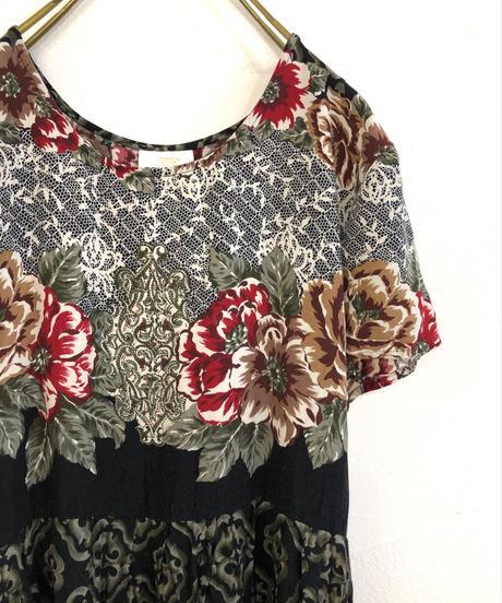 BENTLEY elegant vintage dress-1191-6