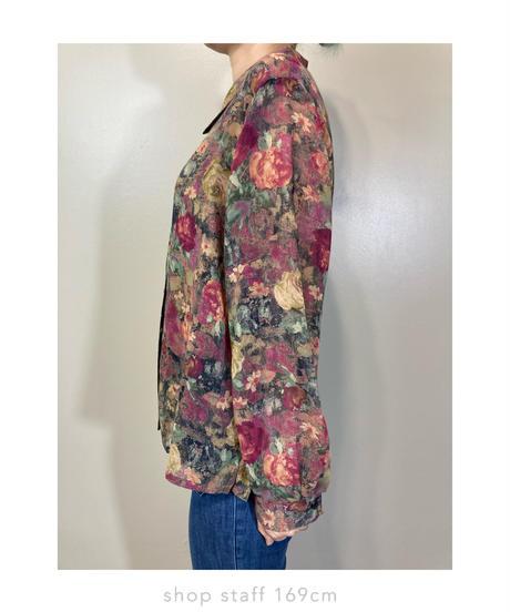 ModRIE vintage flower sheer shirt-2202-10
