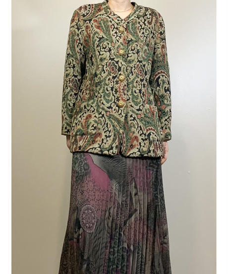 Jacquard paisley pattern rétro jacket-1631-1