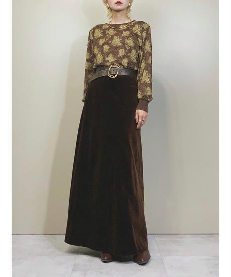 Paisley pattern elegant brown tops-1525-11