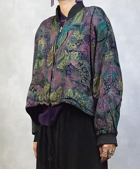 Vintage multicolor nylon jacket-983-3
