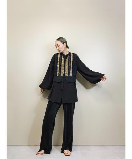 KAREN SCOTT EVENING vintage black vest-1844-4