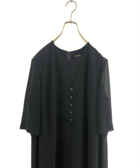 SUNCLOVER layered design black dress-1925-6