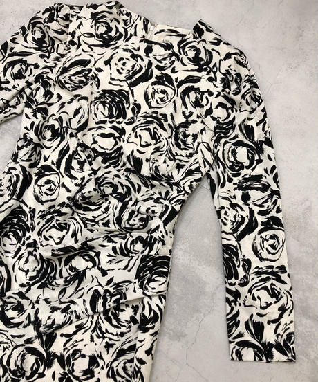 LUIS ESTEVEZ artistic rose modern dress-1846-4