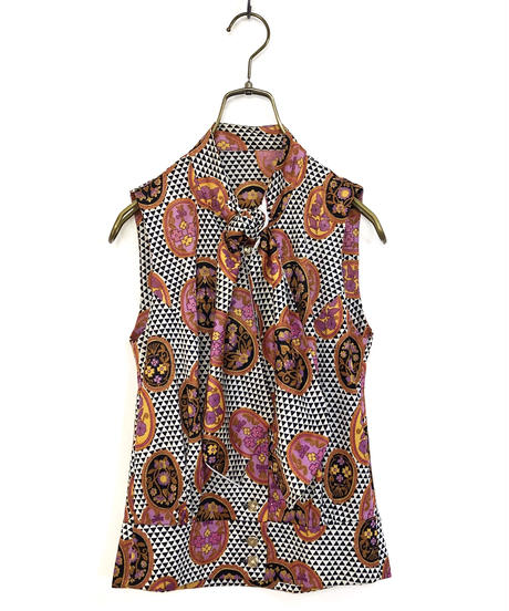 Triangl rétro necktie shirt-342
