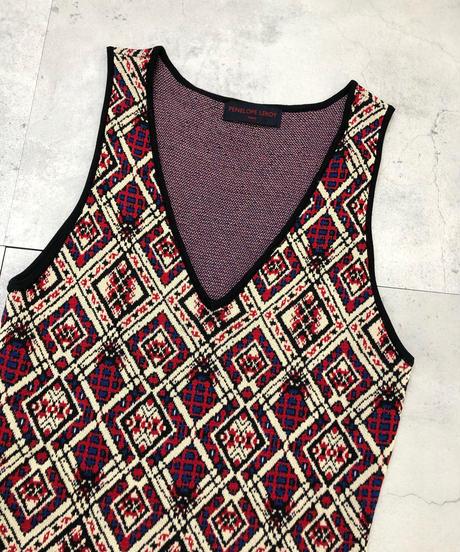 PENELOPE LEROY rhombus design knit dress-1511-11