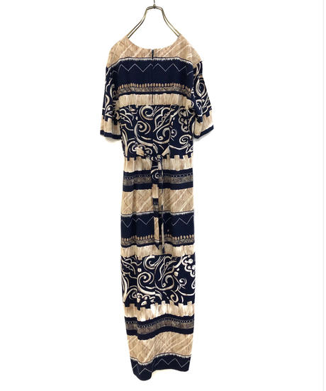 impulsive ethnic pattern slit long dress-1213-6