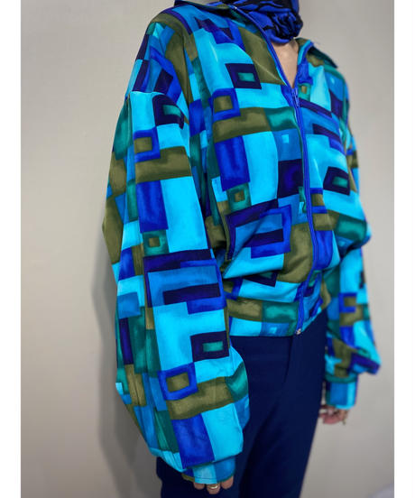Natty MADE IN USA blue  color square design jacket-2214-10