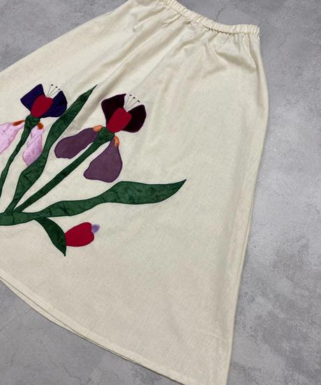 Polywog's rétro flower import skirt-2059-7