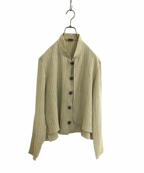 CR layered style stand collar shirt jacket-1845-4