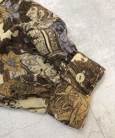 VINVERT antique design rose shirt-1366-9