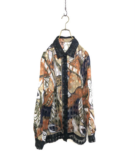 Stained glass artistic sheer shirt-1676-2