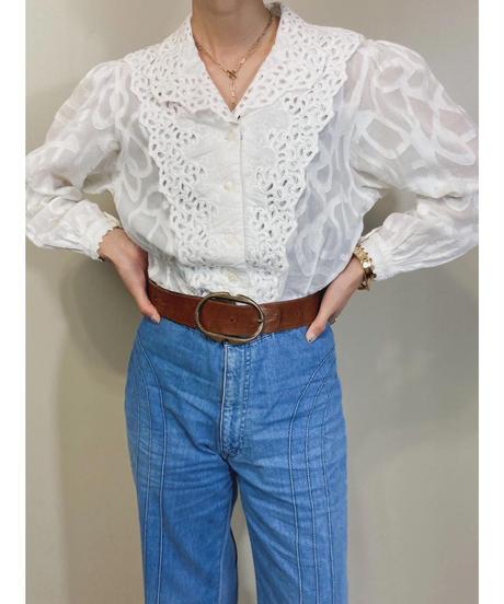 Little lover lace design white shirt-1836-4