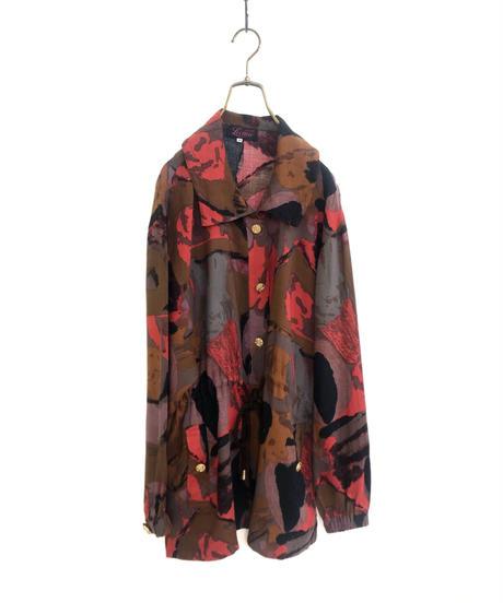 Lecture nauvelle warm color artistic shirt jacket-1758-3