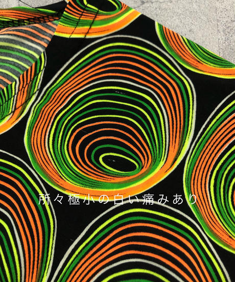 Fluorescent color psychedelic tops-1970-6