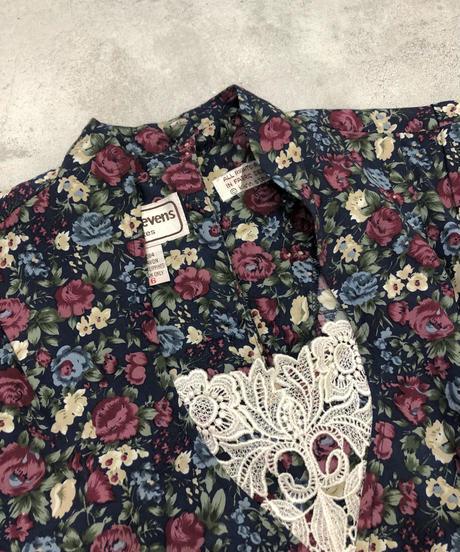 Karin stevens flower design vintage dress-1721-3