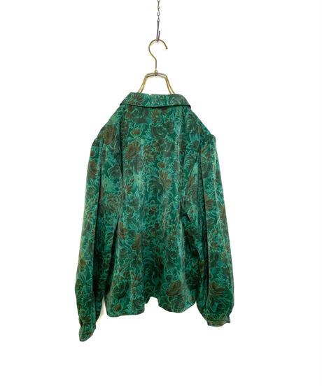 Elegance fashion green floral shirt-2161-9