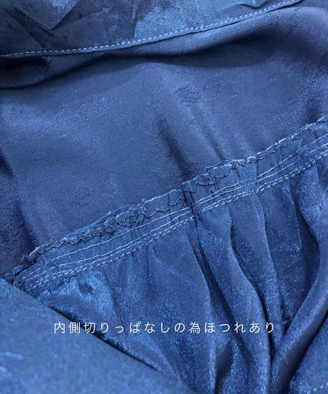 Bright blue import open collar shirt-1814-4